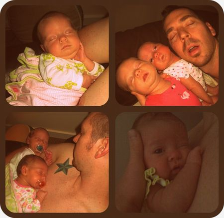 Daddy cuddle collage